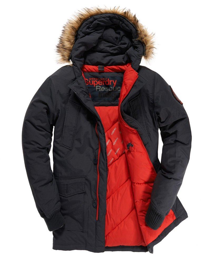 Mens Everest Coat In Indigo Superdry