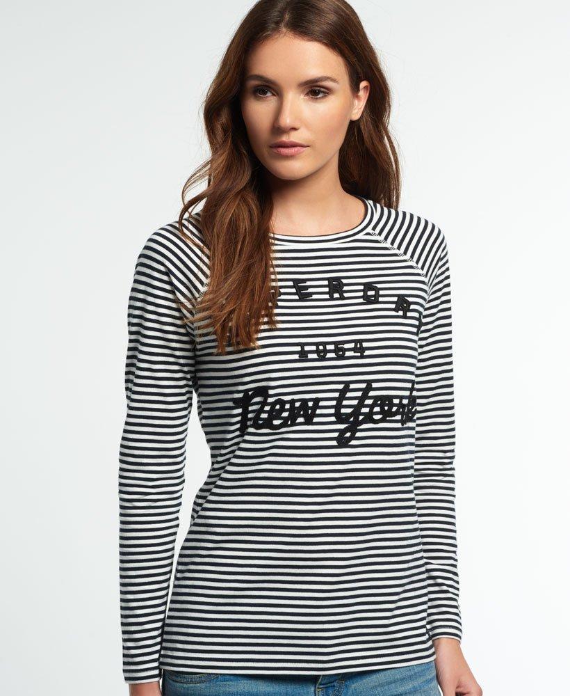 Dame T skjorter & topper Superdry Topper langermet optic