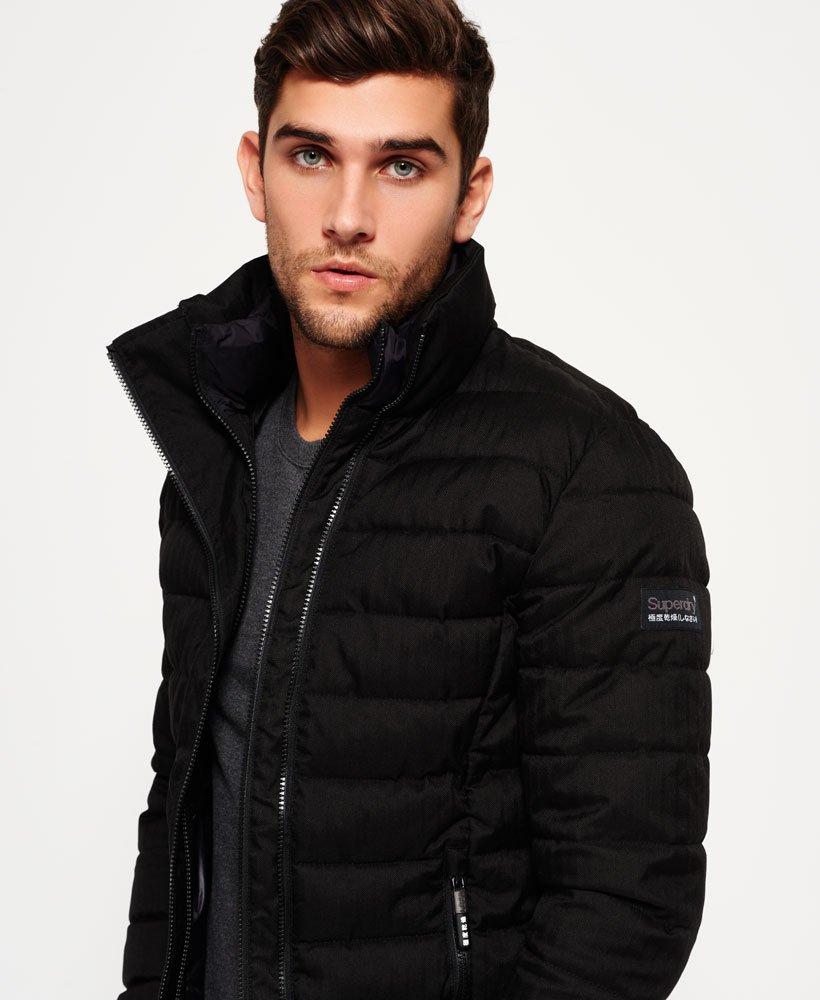 Superdry Tweed Double Zip Fuji Jacket Dark Grey Jackets & Coats Tops Men