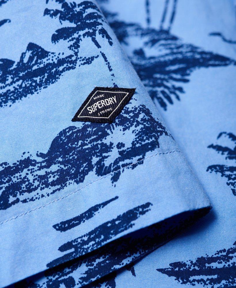 Superdry Ultimate Indigo Aloha Hemd Herren Shirts