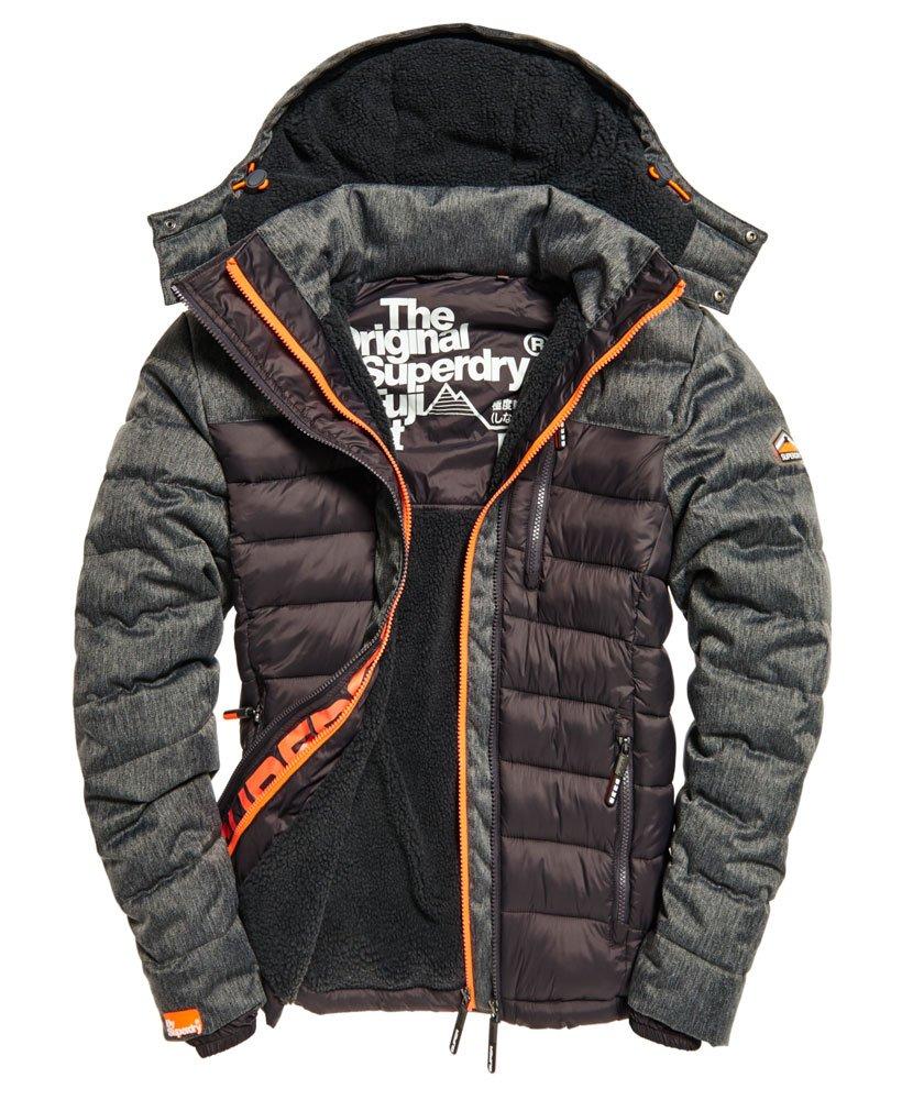 Mens Fuji Mix Double Zip Hooded Jacket in Grey | Superdry