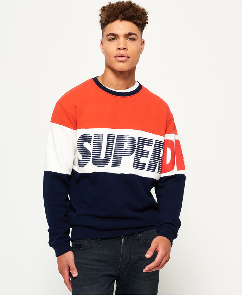 official photos 1030a 74593 Superdry Japan City Breakers Pullover mit Rundhalsausschnitt ...
