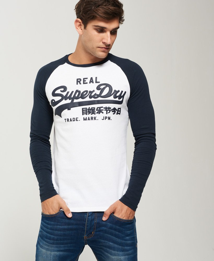 Superdry Tee Shirt Manches Longues Vintage Logo Noir