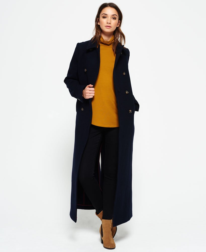 Superdry Super Long Bridge Coat thumbnail 1