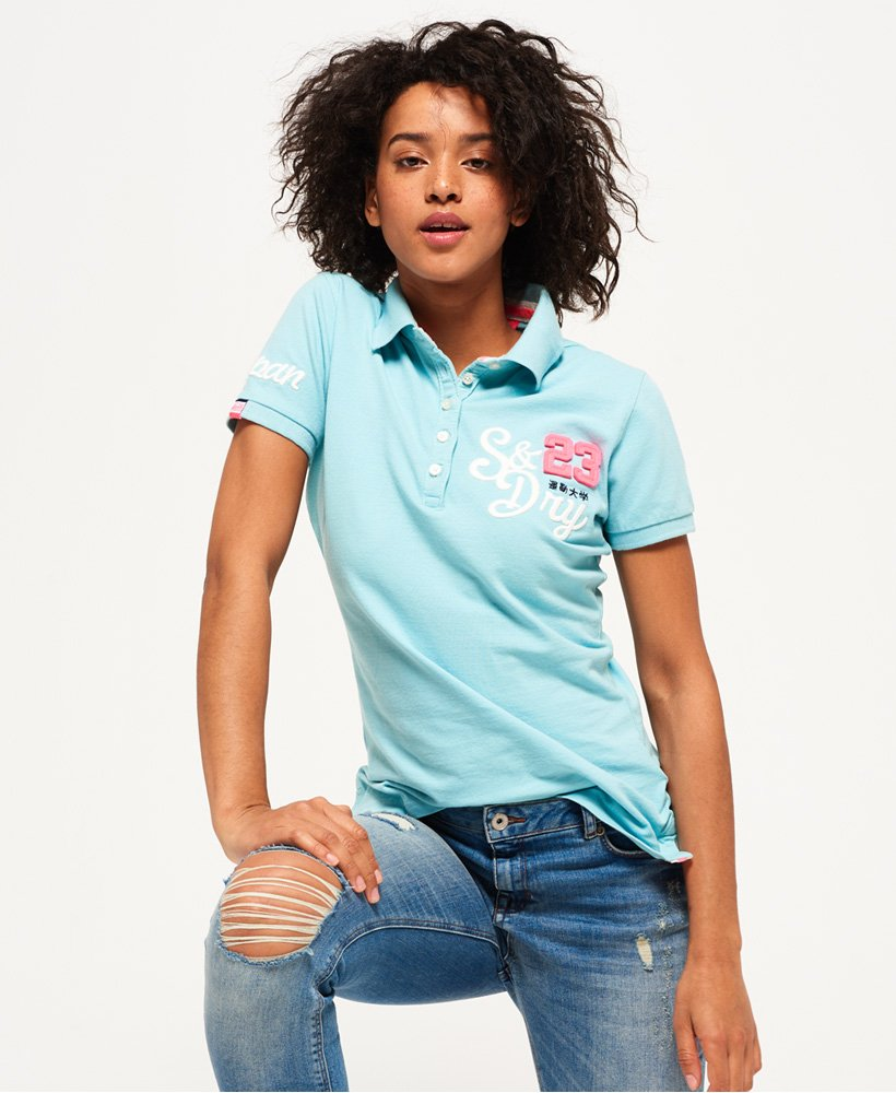 Shirt Applique Women s Tops Polo Superdry g4nFaw0 176f6131fcf