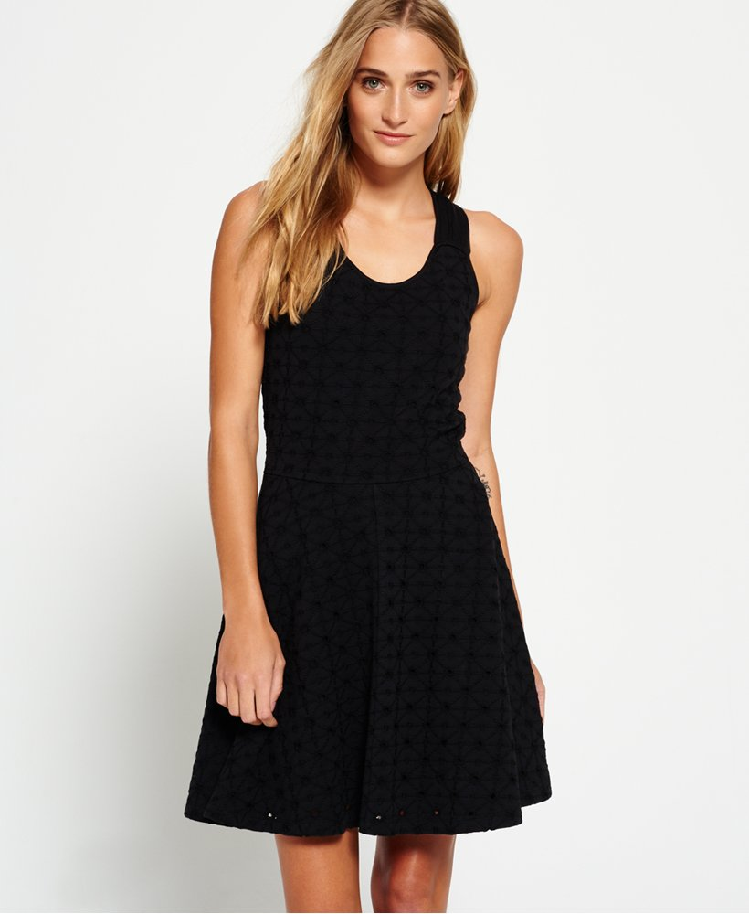 Superdry Schiffli Knotty Skater Dress