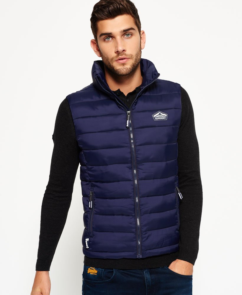 vraiment pas cher prix imbattable meilleure collection Mens - Fuji Gilet in Ink | Superdry