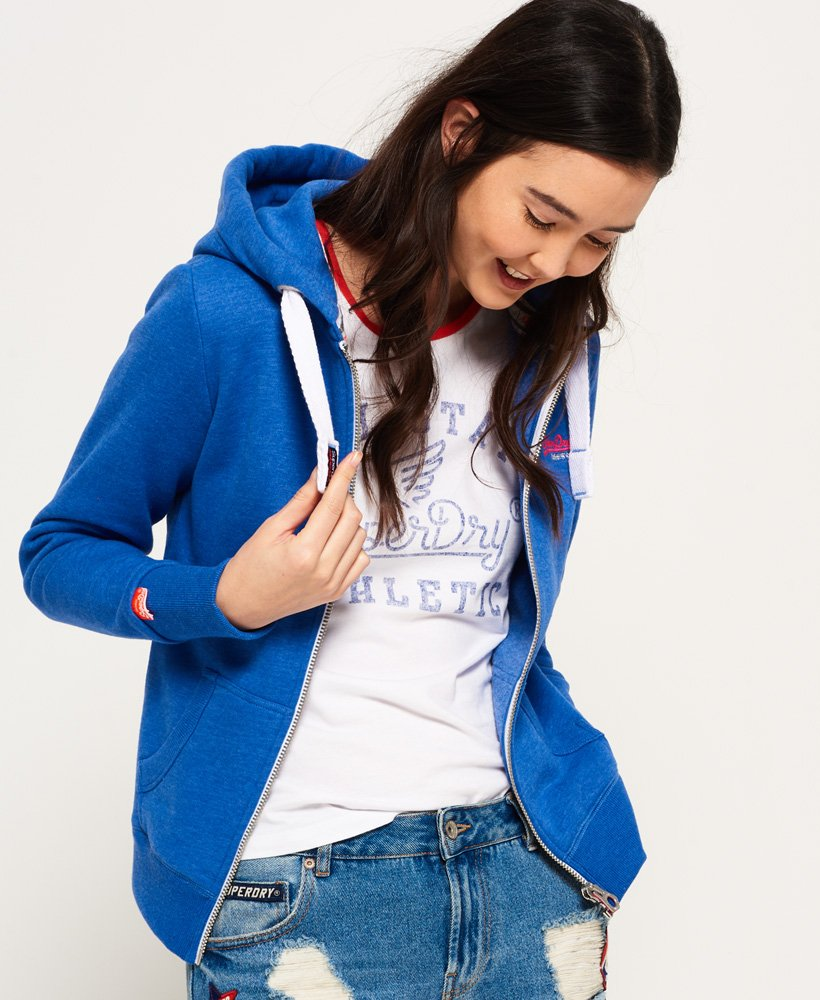 Superdry Orange Label Primary hoodie met rits