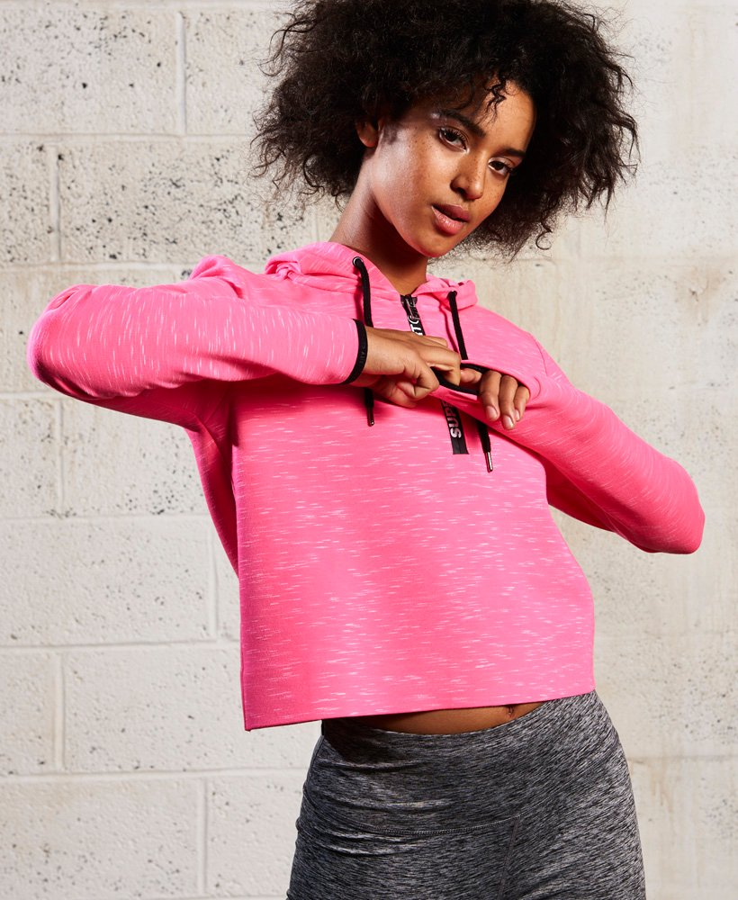 Superdry SD Sport Gym Tech Luxe Crop Hoodie