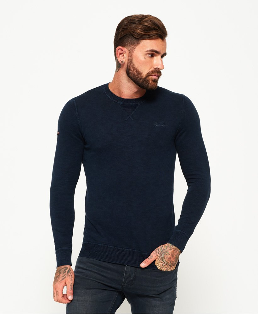 Superdry Garment Dyed L.A Crew Neck Jumper