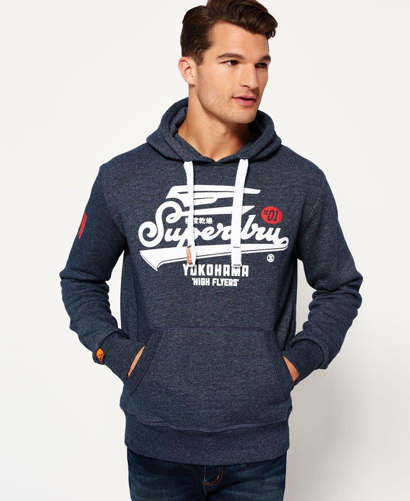 2fe52e6c Mens - High Flyers Hoodie in Ink True Grit | Superdry