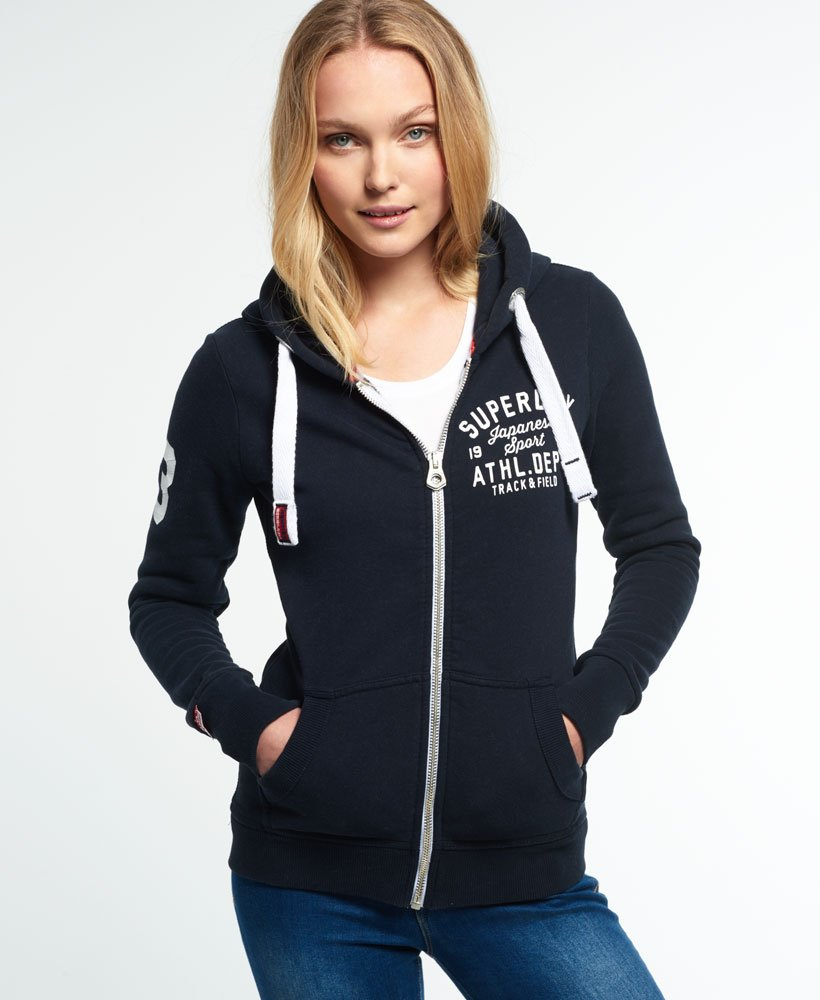 Superdry Sweat zippé à capuche Track and Field Sweats à