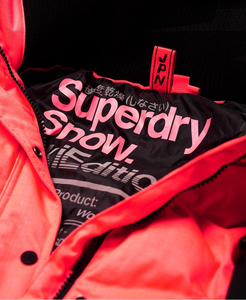 doudoune snow superdry fluo