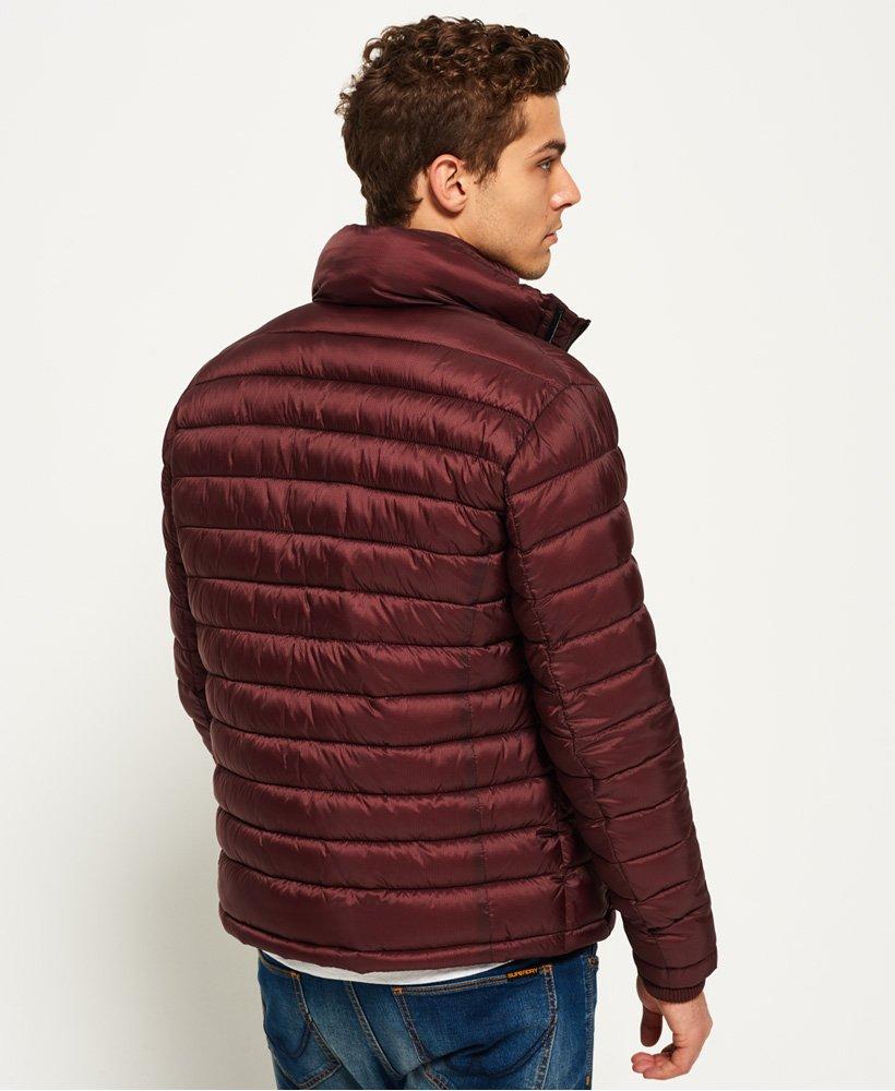 Nueva chaqueta para hombre de Superdry Fuji Doble Cremallera Rojo Oscuro