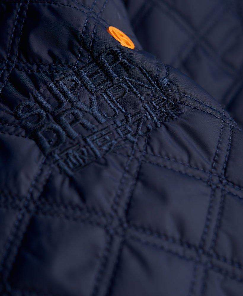 Mens Apex Quilt Jacket In Navy Superdry