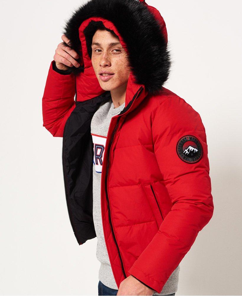 Mens Everest Bomber Jacket in Red | Superdry