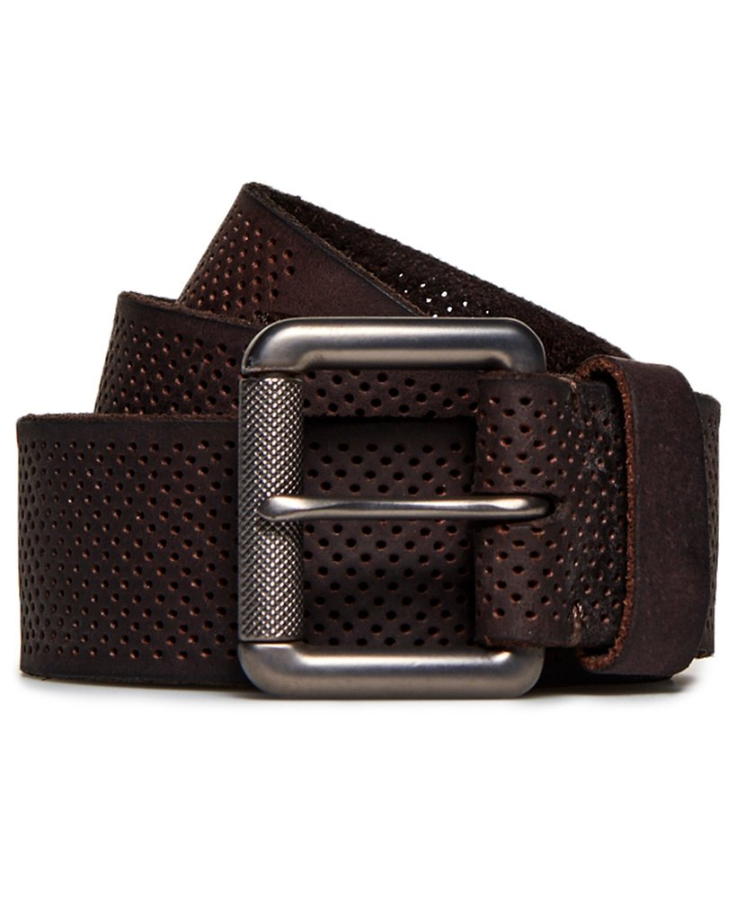 Superdry Master Perforated Leather Belt thumbnail 1
