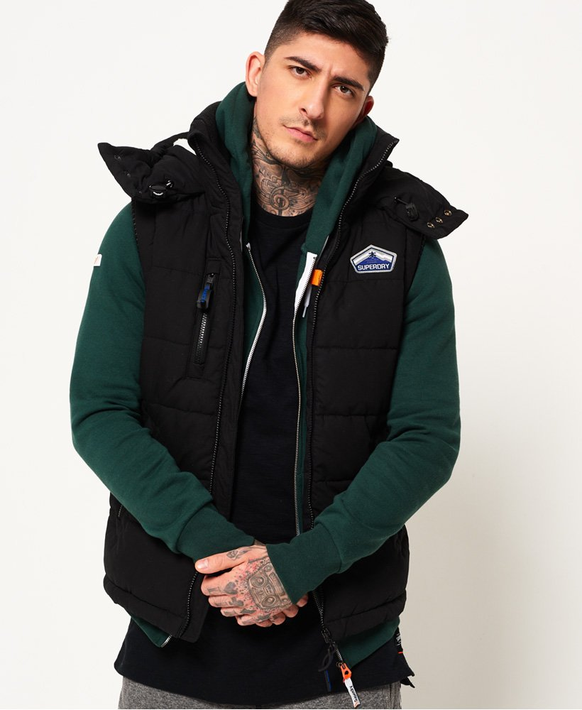 ae1bd1e3cd Mens - Bluestone Gilet in Black | Superdry