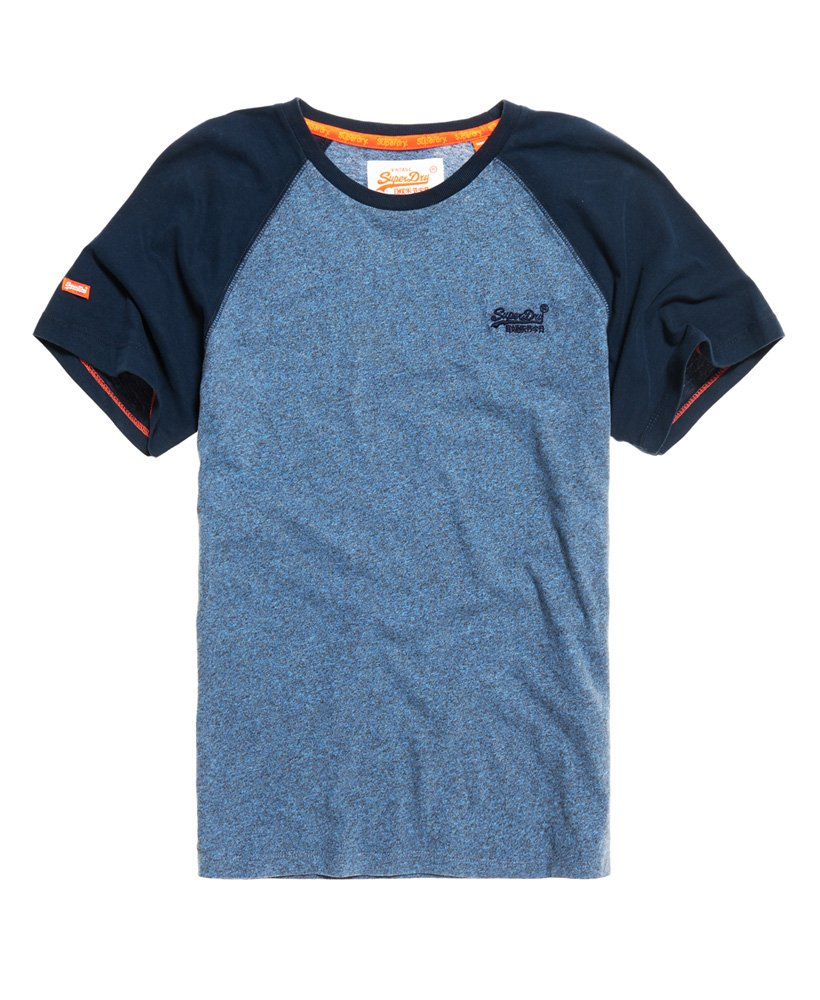 Shirt Orange Superdry Label Uomo Da Baseball T CA1OdUqxwd