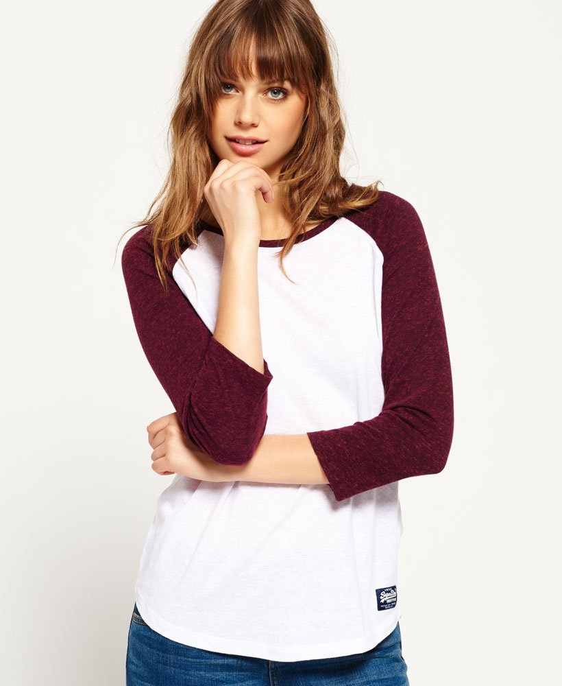 Linea donna Superdry TRACK /& FIELD Baseball Top