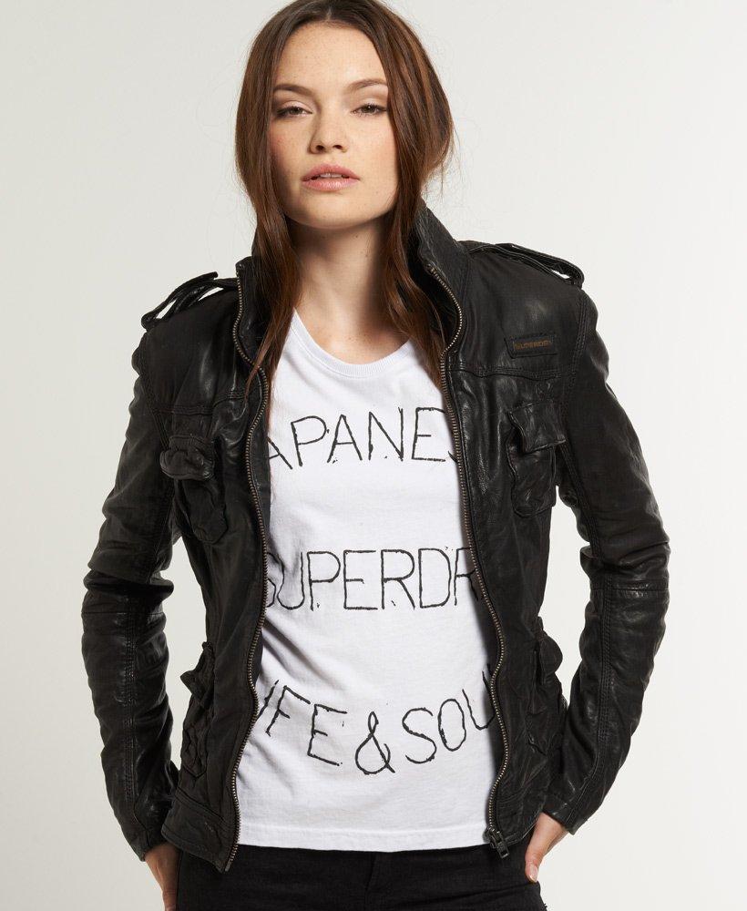 low priced 5b046 32fb9 Superdry Megan Skinny Lederjacke - Damen Lederjacken