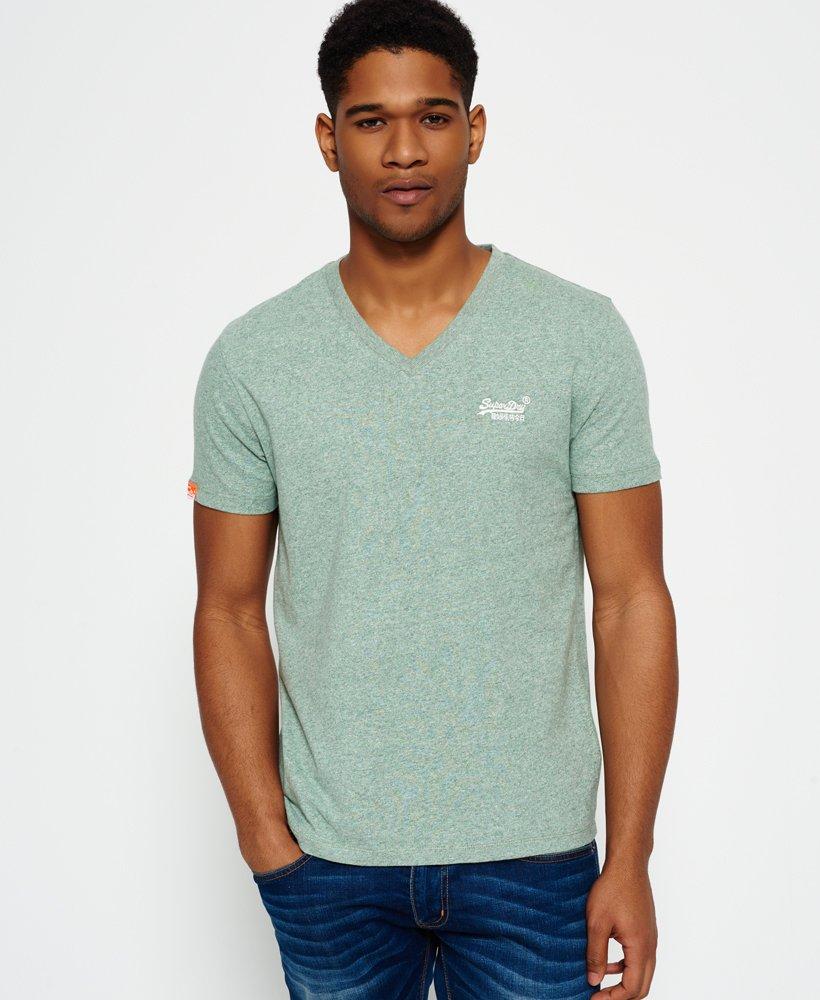 79ceb6e0 Superdry Vintage T-skjorte med broderi og V-hals, fra Orange Label ...