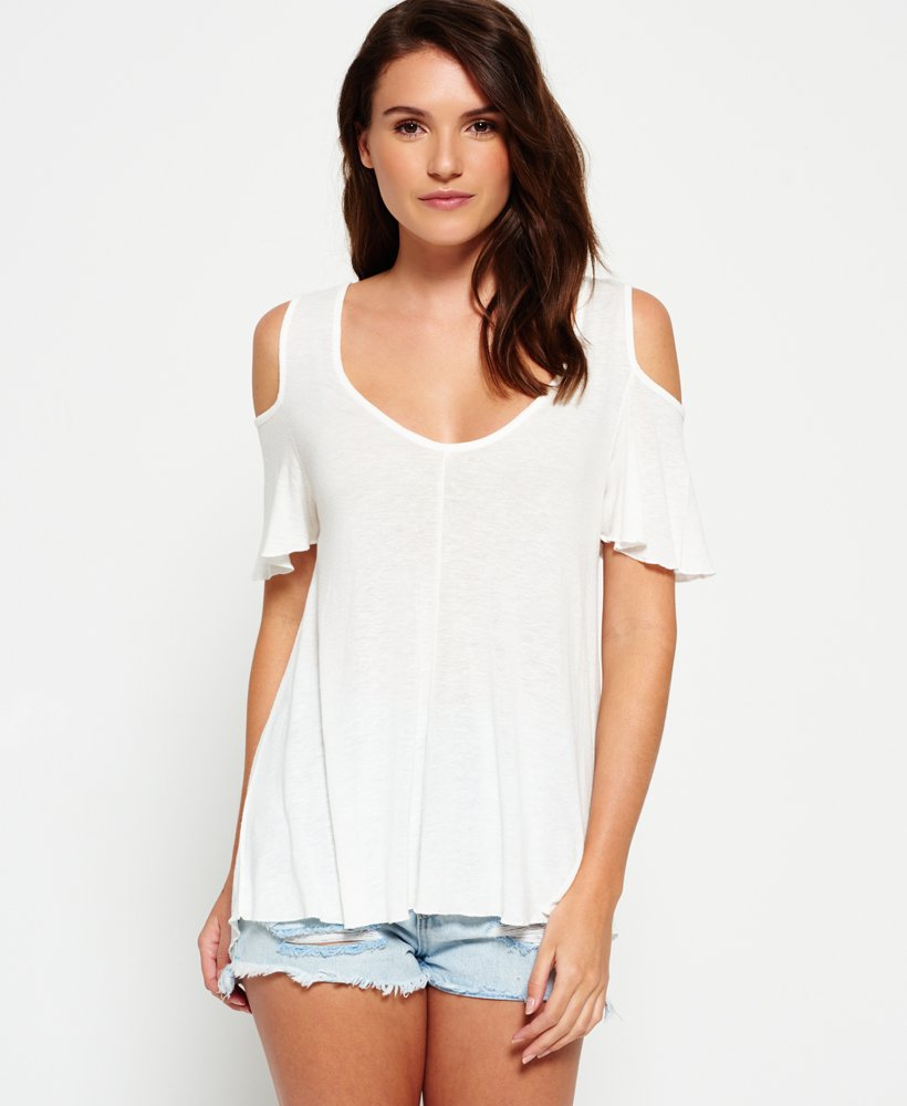 f86df993161 Womens - Boho Off The Shoulder Top in Off White   Superdry
