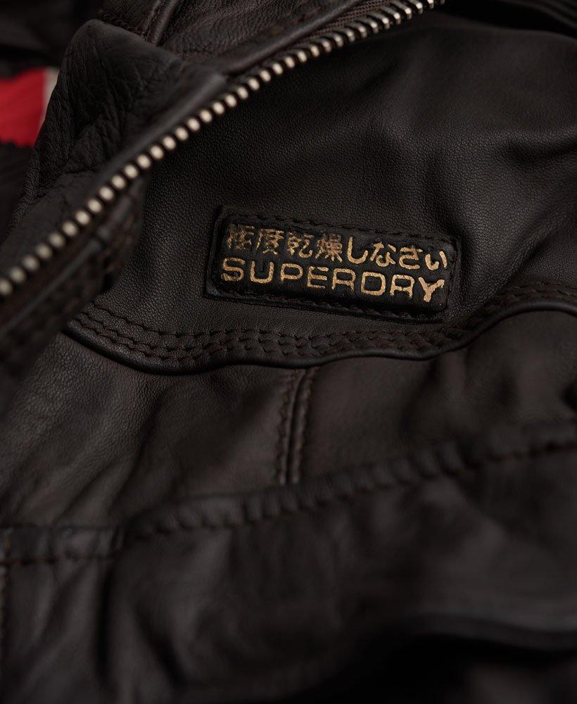 Superdry Veste en cuir coupe slim Megan Track Vestes et