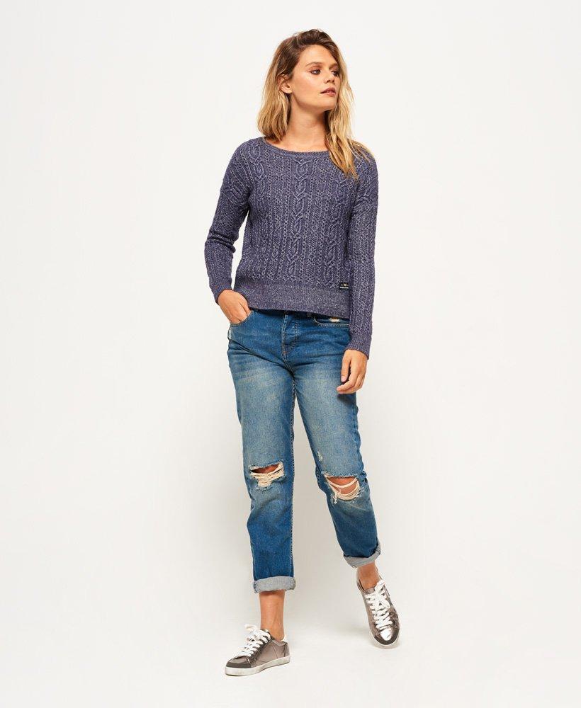 Superdry Nebraska Zip gebreide kabeltrui Knitwear voor Dames