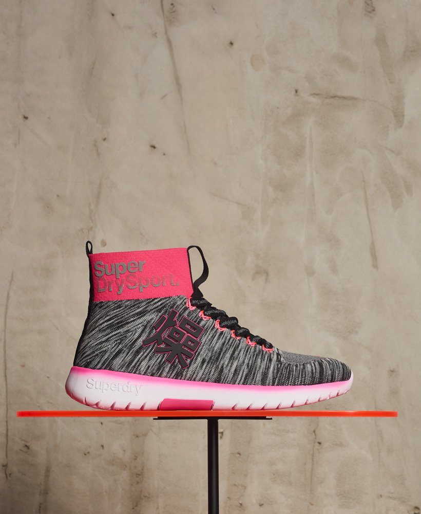 Superdry Super Knit Hi Runner Trainers thumbnail 1