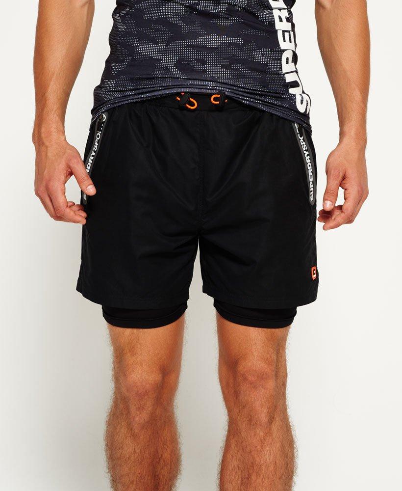 880f4e7cb Superdry Pantalones cortos de doble capa Sports Active - Pantalones ...