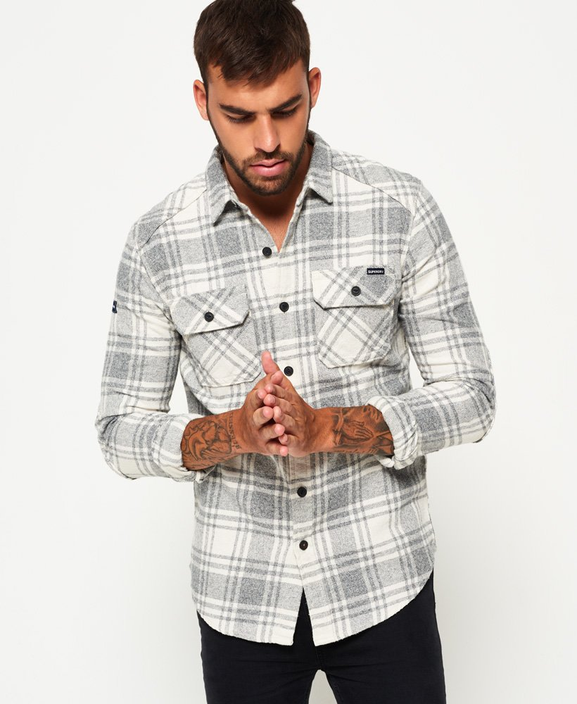 Superdry Milled flanellen overhemd Overhemden voor Heren