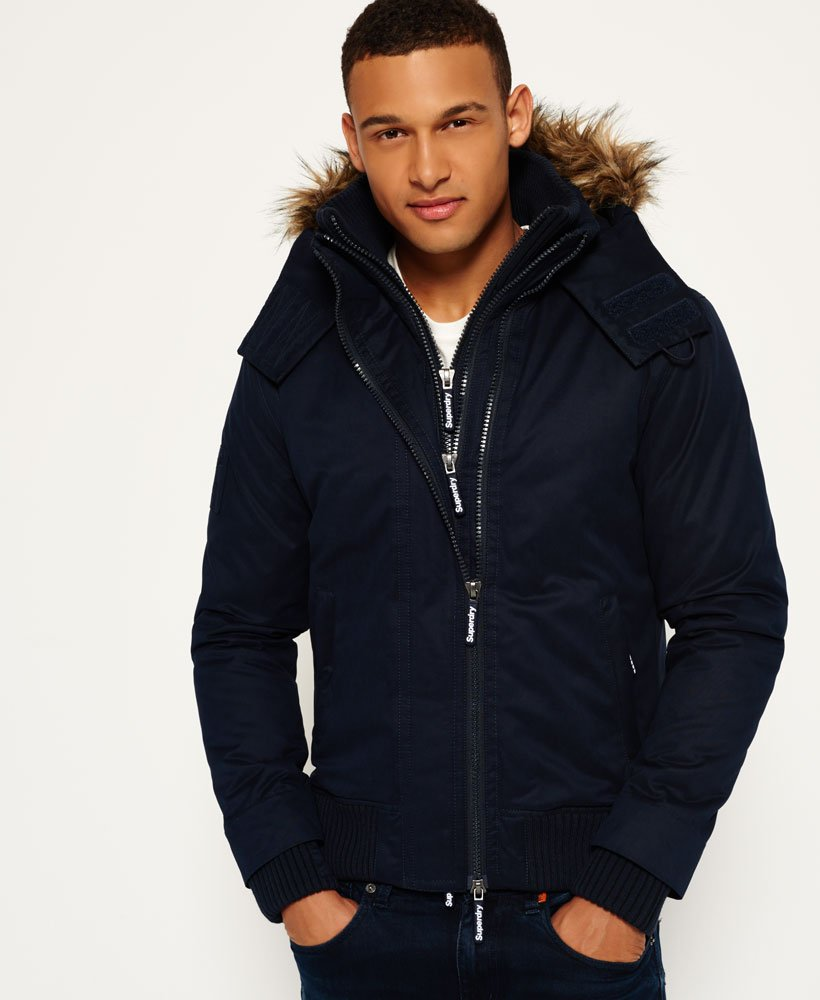 Superdry Microfibre Hooded SD-Windbomber Jacket