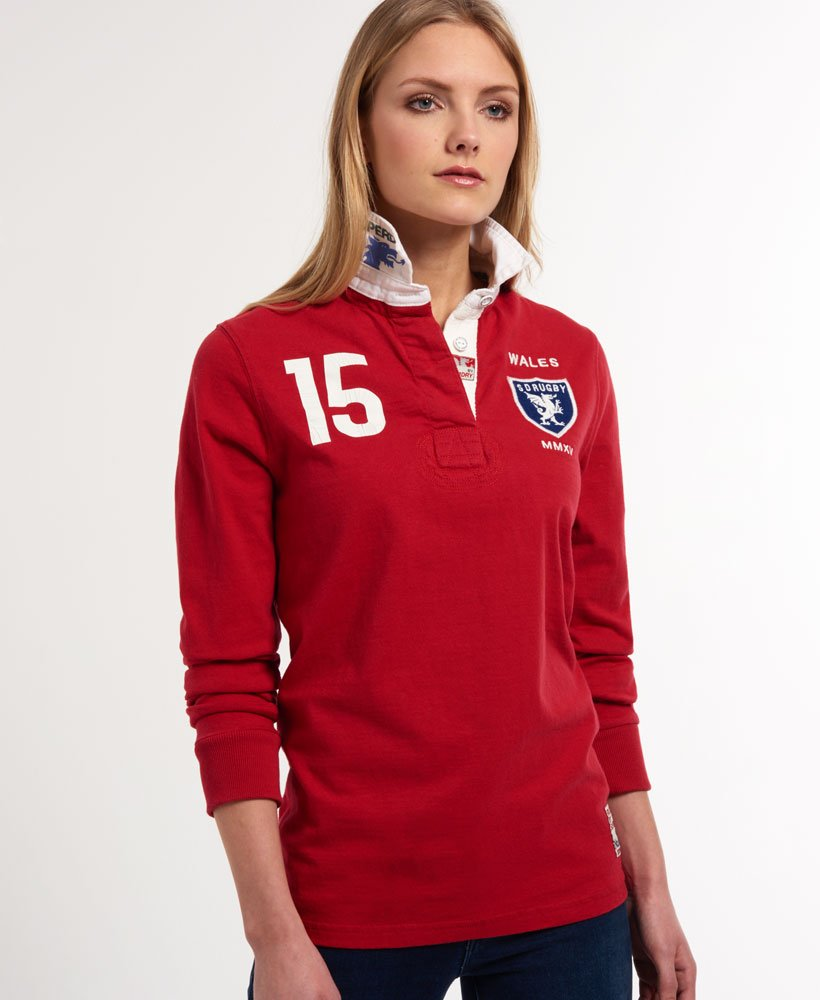 Superdry Valiant Rugby Shirt Women S Tops