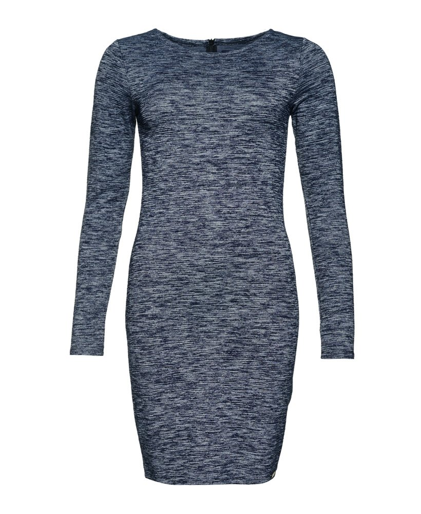 New Womens Superdry Augusta Bodycon Dress Florence Navy