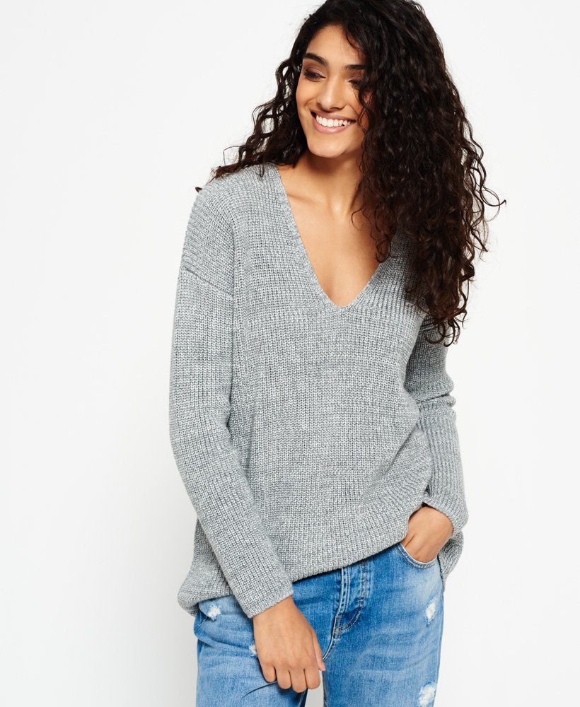 Superdry Almeta Vee Knit Jumper thumbnail 1