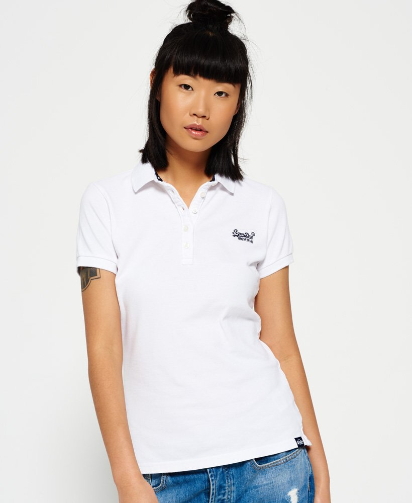 huge inventory huge selection of utterly stylish Womens - Classic Polo Shirt in Optic White | Superdry