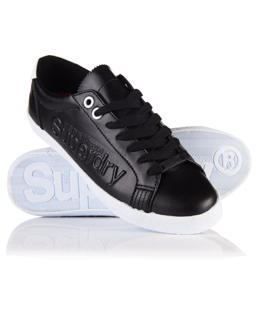 Superdry Super Sleek Logo Low Top Trainers thumbnail 1