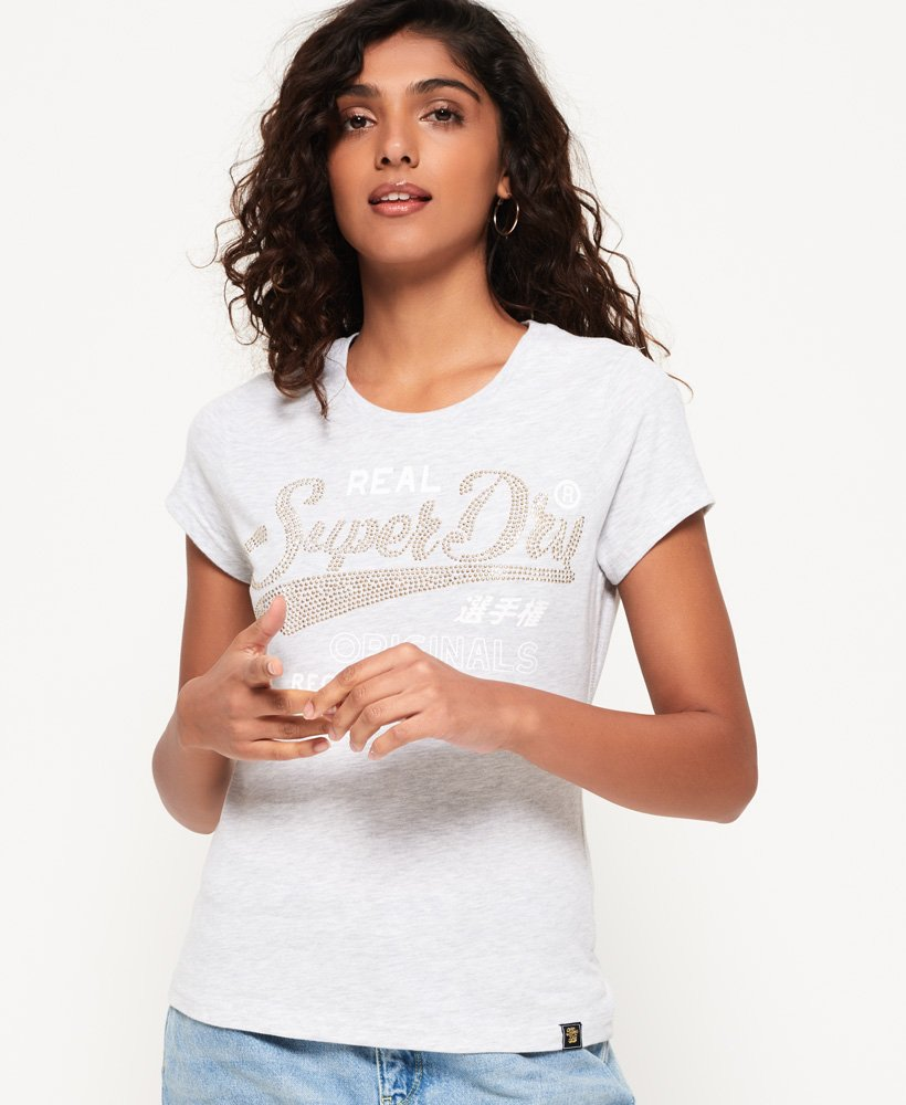Superdry T-shirt à strass Original thumbnail 1