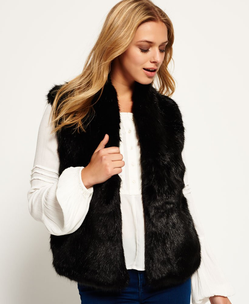 Superdry Luxe Faux-Fur Gilet