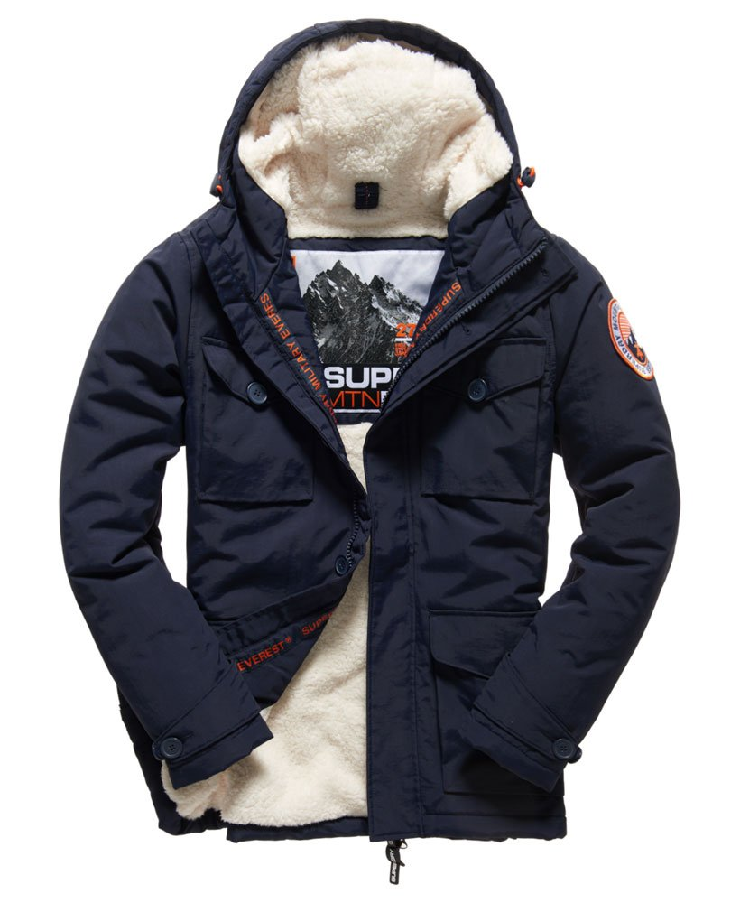 Mens Military Everest Coat in Navy | Superdry