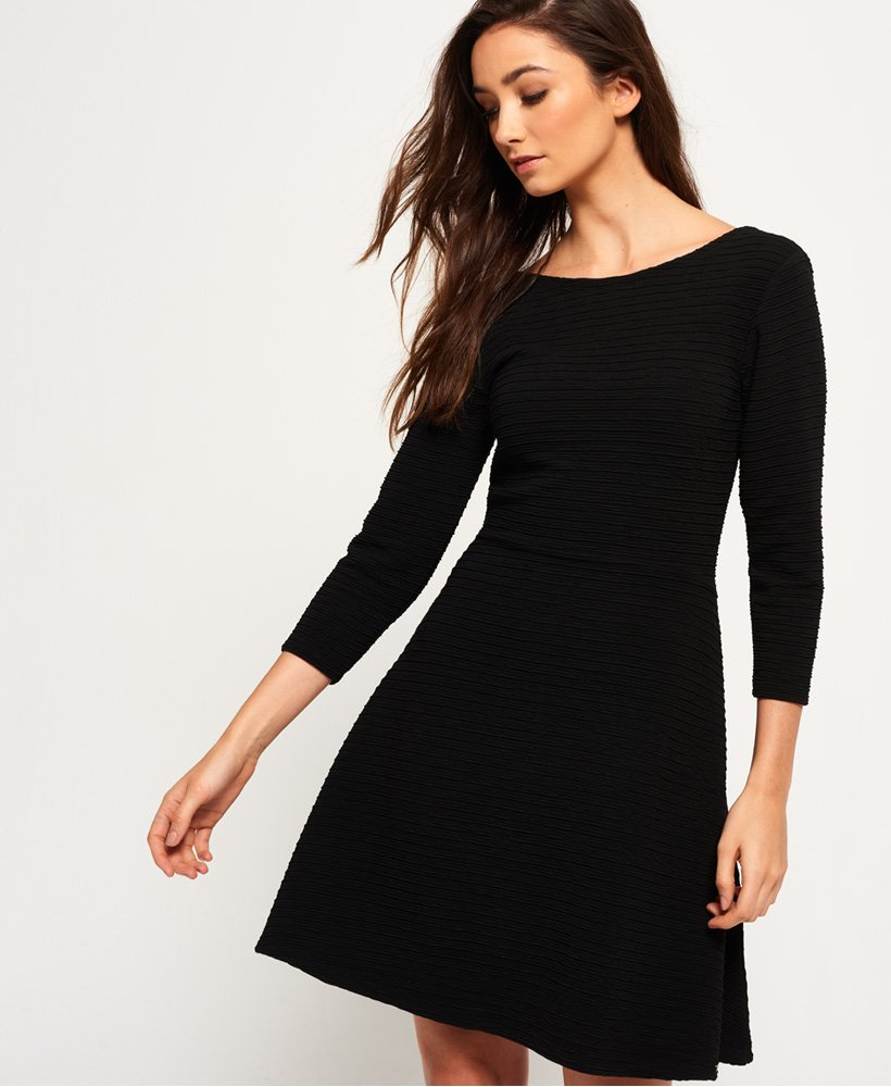 Superdry Ella Textured Skater Dress