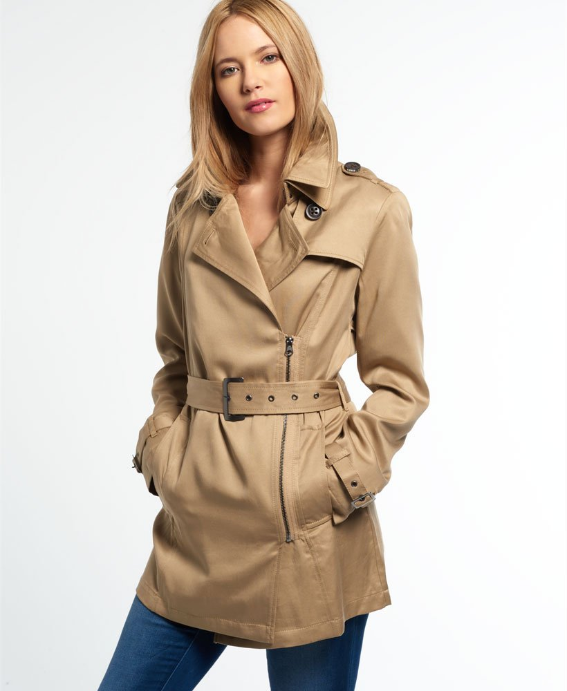 Superdry Draped Trench Coat thumbnail 1