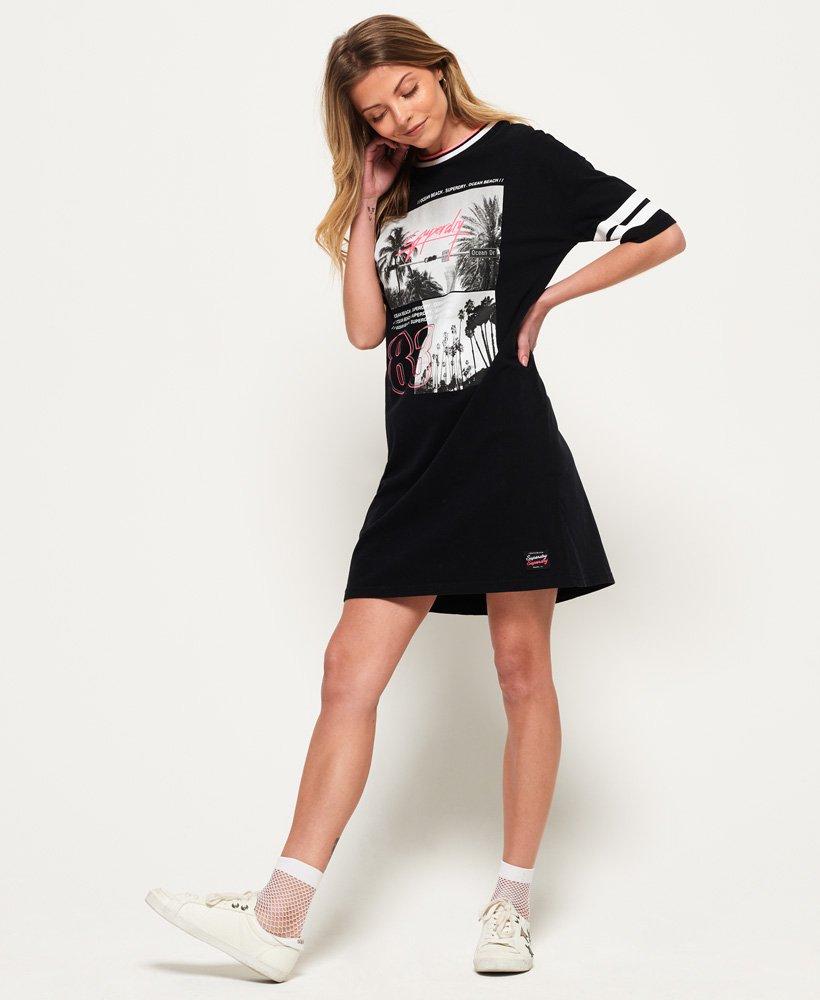 Womens Boyfriend T Shirt Dress In Black Superdry