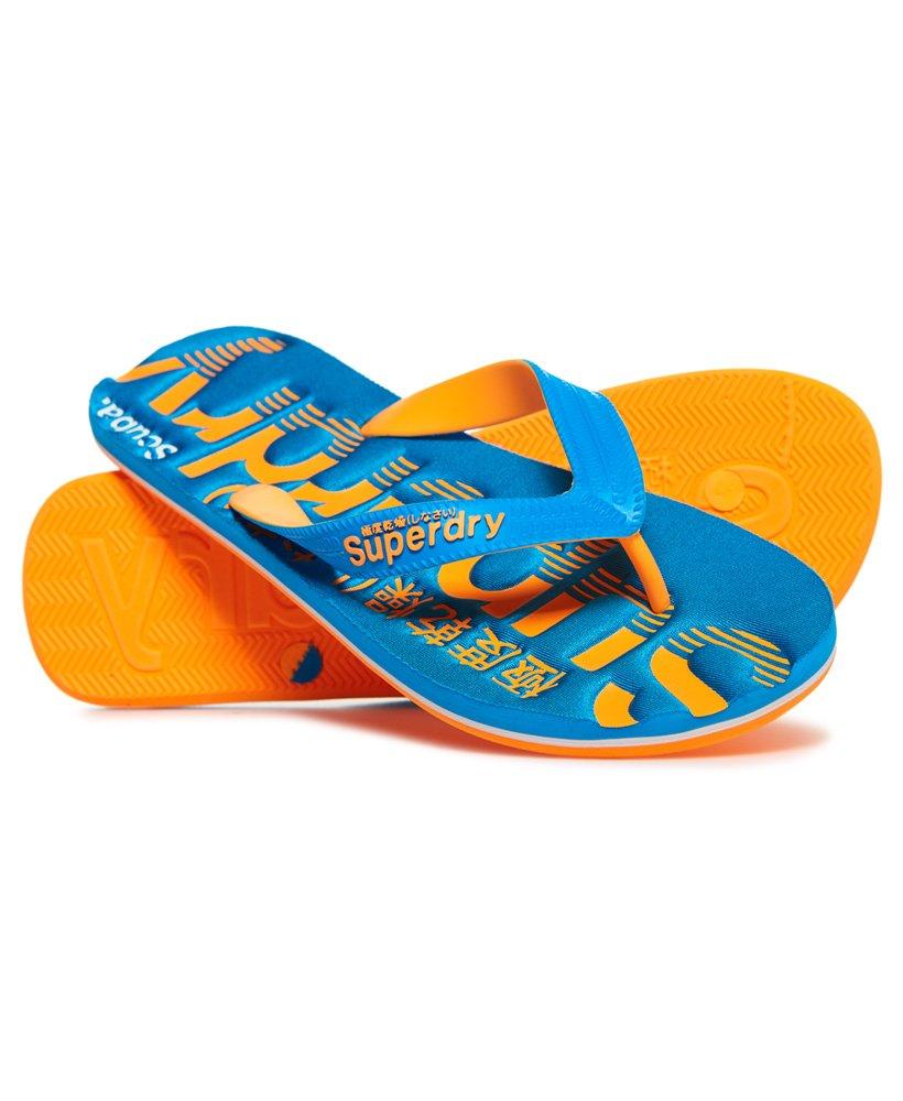 8d9feb52d603ff Mens - Scuba Flip Flops in Ocean Blue tangerine