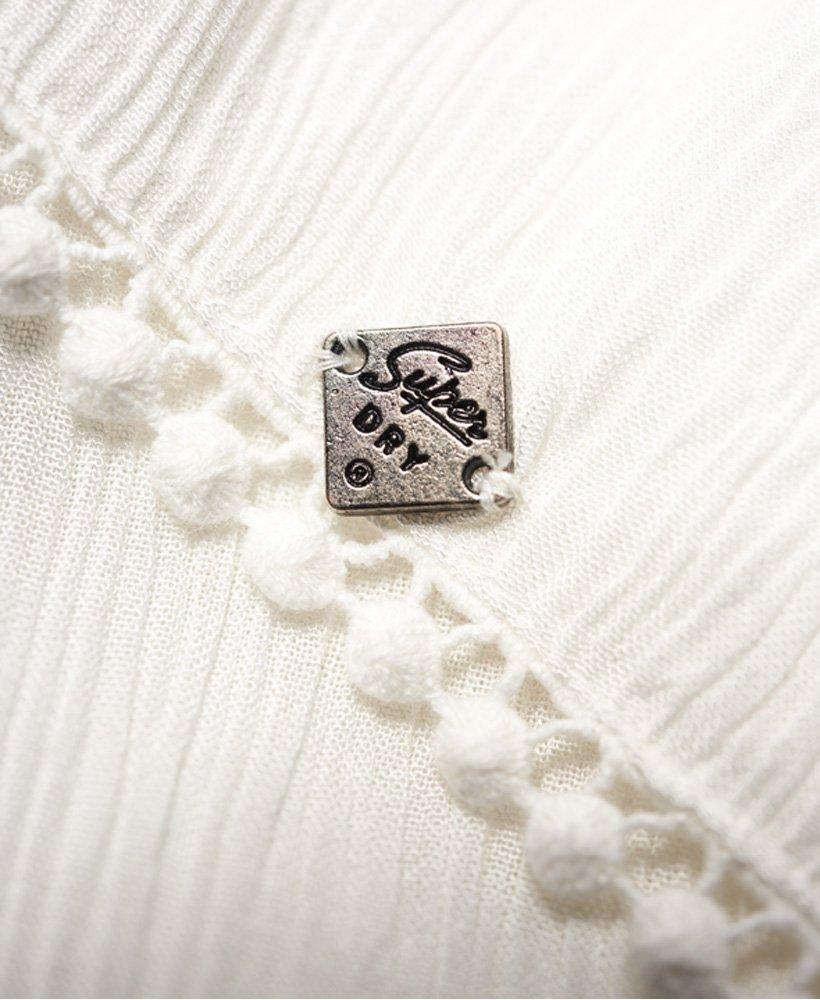 Superdry Damen Bobbie Button Bluse