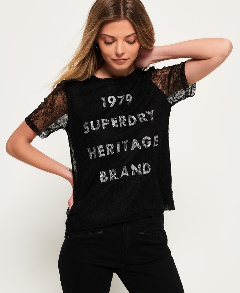 Superdry Lace Graphic T-shirt thumbnail 1