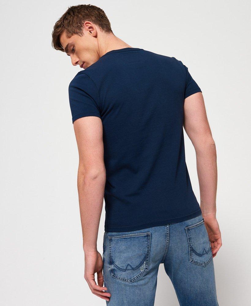 New Mens Superdry  Upstate Wash Short Sleeve T-Shirt Mariner Navy Applique