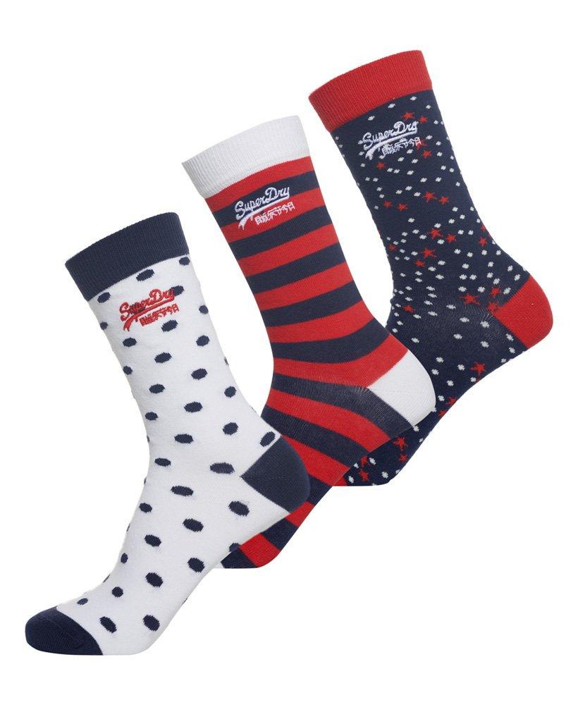 Superdry Lot de trois paires de chaussettes Nautical