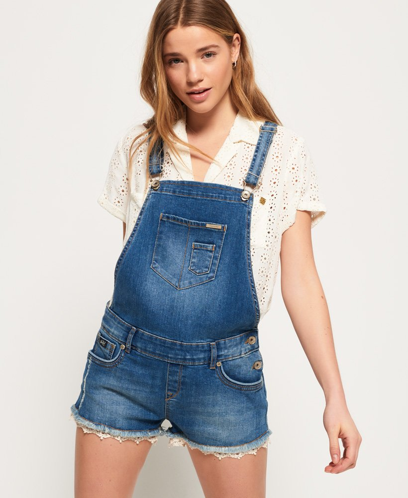 Short Superdry Combinaison Jean Jeans Pour En Mini Femme cR3qL4AS5j